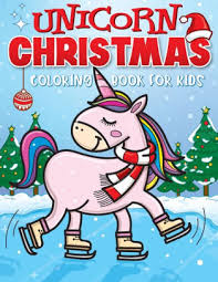 unicorn christmas coloring book for