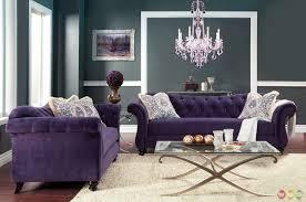 Small Picture Living Room Elegant Purple Living Room Set leather furniture