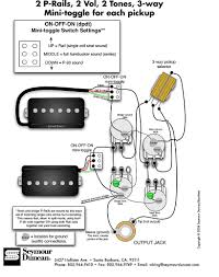 seymour duncan p rails wiring diagram 2 p rails 2 vol 2 tone if you ve the other two articles in the series hopefully by now you ve got a good understanding of the different ways we can wire p rails pickups