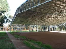covered outdoor basketball court for wade highschool in griffith nsw