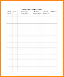 Transaction Register Template Free Business Check Glotro Co