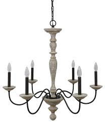 jane french country rustic 6 light distressed wood chandelier no crystal