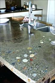 recycled glass countertops cost vs quartz of design full size crushed s resin based r