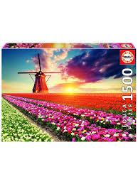 <b>Пазл</b> 1500 деталей - Пейзаж, Тюльпаны Educa 9472075 в ...