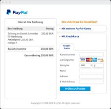 Rechnung Rechnungsvorlage - Online Paypal De