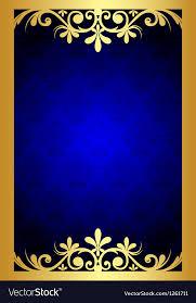 Blue And Gold Design Gold And Blue Floral Frame