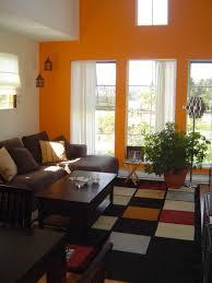 Orange Living Rooms Best Orange Living Room Decor In House Remodel Ideas With Orange
