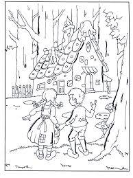 Hans En Grietje Bij Het Snoephuisje Sprookjes Kleurplaten