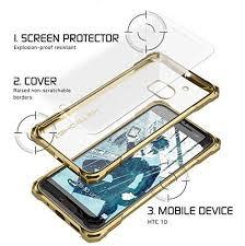 htc 10 case gold. htc 10 case, ghostek® covert gold series premium slim hybrid | w/screen htc case
