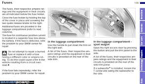 bmw e fuse box diagram bmw wiring diagrams online