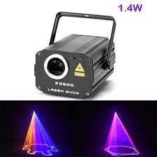 1400mW DMX 512 เครื่องสแกนเนอร์เลเซอร์ RGB สีสัน PARTY Xmas DJ ดิสโก้ไฟ เลเซอร์|Stage Lighting Effect