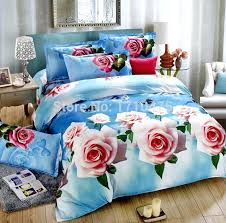 indian bed covers bedspread blue rose flower printed jacquard polyester bed cover set indian indian bed covers