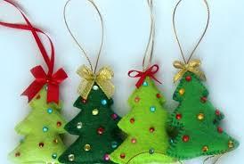 Filz Weihnachtsbaum Christbaumschmuck Filz Ornamente Weihnachtenhousewarming Wohnkultur Handbestickt Geschenke Ornamente Baumschmuck