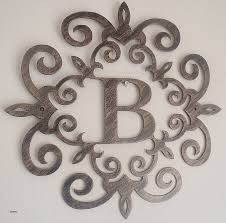 wood and iron wall art awesome family initial monogram inside a metal scroll with b letter  on silver metal scroll wall art with wall art luxury wood and iron wall art wood and iron wall art best