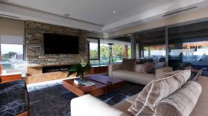 modern house inside. Modren House Modern House Inside Living Room With Fireplace And Stone Accent Wall Inside