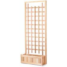 pl30 t rectangular planter with trellis screen set