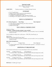 Cna Resume Skills Examples Objectives For Cna Resume Resume Template And Cover Letter 22