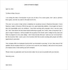 Letter of Intent Application for a Job Free Download