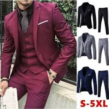 Mens Pants Xl Size Chart Details About Mens Fashion Wine Red Slim Fit Jacket Vest Pants 5 Xl See Size Chart Pics