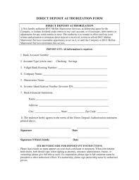 Employee Direct Deposit Authorization Agreement Direct Deposit Authorization Form Pepsico
