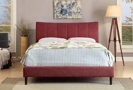 Furniture of America Ennis Collection Red Platform Bed