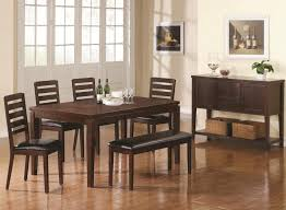 modern furniture ct most wanted design dark brown lacquered finish rectangle wooden dining table black leather seating chairs set decoration 1024x750