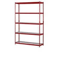 red muscle steel shelving rack 5 shelf steel garage storage wire shelving unit 99 73 pic uk