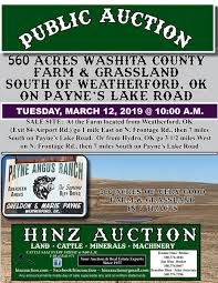 560 ACRES SOUTH OF WEATHERFORD, OK - Hinz Auctioneers