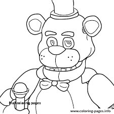 Fnaf Coloring Pages Fnaf Golden Freddy Coloring Page Coloring Pages