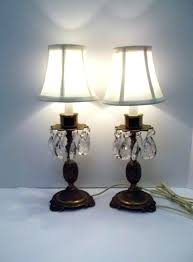 buffet lamp set buffet lamps set pair of vintage brass crystal pineapple table lamps set of