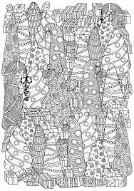Christmas Tree Coloring Pages Printable And Presents Coloring Pages