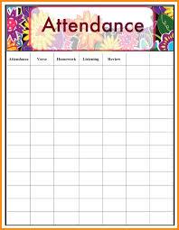 Attendance Chart Attendance Sheet For School Jasonkellyphoto Co