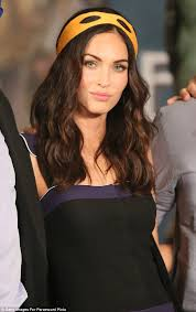 stunning megan fox looked glamorous at a press conference for age mutant ninja turtles in