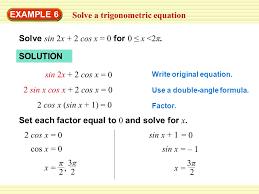 2 solve a trigonometric equation