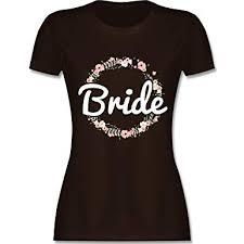 Jga Junggesellinnenabschied Bride Blumenkranz Damen Tshirt Und