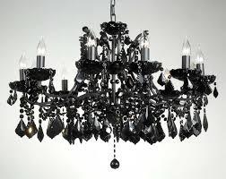 small black chandelier pixball