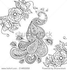 Meisje Kleurplaat Peace Coloring Book Henna Butterflies And