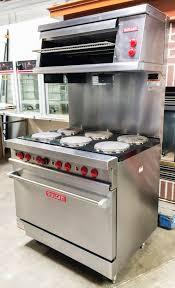 Salamander Kitchen Appliance Vulcan E36l 218 36 Stainless Steel 6 Burner Restaurant Range
