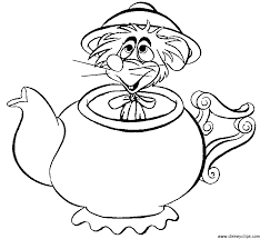 Alice In Wonderland Printable Coloring Pages Intended For A Coloring ...