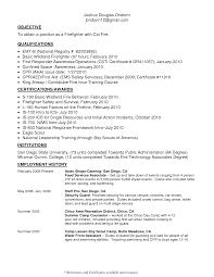 Firefighter Job Description Resume Resume Ideas