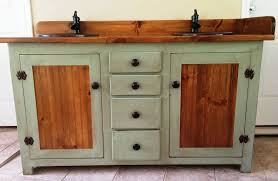rustic bathroom double vanities. Beautiful Bathroom Image Of Painted Rustic Double Vanity Intended Bathroom Vanities