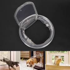 details about pet door cat small dog door 4 ways locking round clear flap for glass window us