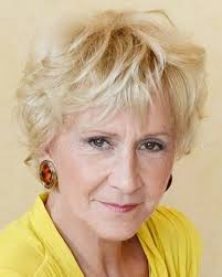 short wavy hairstyle for women over 60