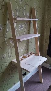 ladder office desk. lean to desk handmade wooden ladder office