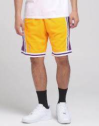 Nba Swingman Shorts Size Chart Mitchell Ness Los Angeles Lakers 96 97 Nba Swingman Shorts Yellow