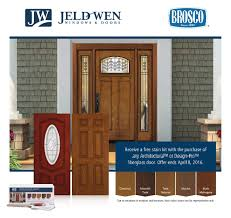 free stain kit with the purchase of a jeld wen fiberglass door unit