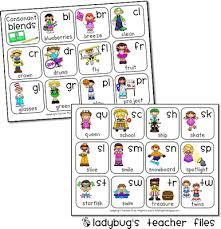 Consonant Blends Chart Printable Ladybugs Teacher Files