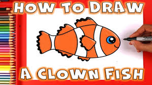 clown fish drawing. Unique Drawing How To Draw A Fish  Clown Throughout Drawing O