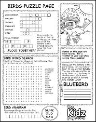 Birds Puzzle Page Activity Sheet - Free Coloring Pages for Kids ...