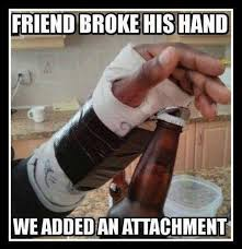 Open Beer with broken hands | Funny Pictures, Quotes, Memes, Jokes via Relatably.com